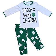 Unique Baby Girls St Patrick s Day Dads Lucky Charm Legging Set (2T XS 4668ed51b1d4