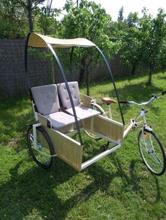 Rickshaw Pedicab DIY? No plans, just an interesting design