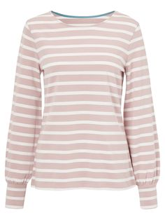Buy Boden Lena Breton Top, Milkshake/Ivory from our Shirts & Tops range at John Lewis. Breton Top, John Lewis, Ivory, Project 333, Sweaters, Stuff To Buy, Shirts, Tops, Google Search