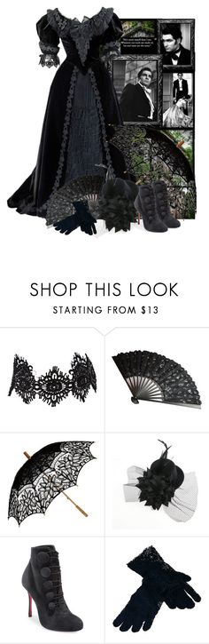 """""""Wuthering heights"""" by fashionrushs ❤ liked on Polyvore featuring Amrita Singh, Remedios, Christian Louboutin and Saro"""