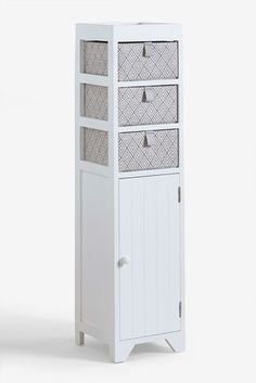 Buy White Wooden Storage Unit from the Next UK online shop Storage Baskets, Locker Storage, Egyptian Cotton Towels, Large Baths, Bath Sheets, Bath Towels, Glass Jars, Cupboard, Contemporary Design
