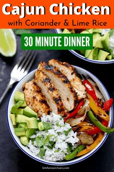 Juicy griddled Cajun chicken with charred veggies and coriander-lime rice – ready in 30 minutes. A great weeknight dinner! Juicy griddled Cajun chicken with charred veggies and coriander-lime rice – ready in 30 minutes. A great weeknight dinner! Wrap Recipes, Healthy Dinner Recipes, Vegetarian Recipes, Delicious Recipes, Healthy Meals, Vegetarian Wraps, Simple Recipes, Fruit Recipes, Lunch Recipes