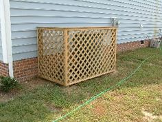 Vinyl Lattice Trash Can Screen Patio Outside Space