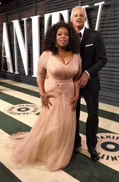 Pin for Later: Die Stars feiern ausgelassen nach den Oscars Oprah Winfrey und Stedman Graham