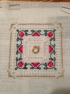 "The Victoria Sampler; Beyond Cross Stitch Learning Collection, Level 4 Four sided pulled stitch & Four sided Hemstitch ""Tudor Rose"""