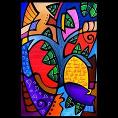 Cubist 120 2436 Original Cubist Art Tree of life