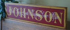 Custom Made Wedding Anniversary Family Handpainted Primitive Wooden Sign.