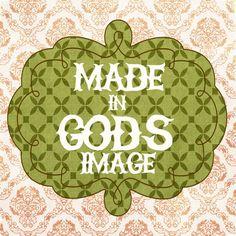 Made In God's Image children's room or nursery by westeightythird, $14.00