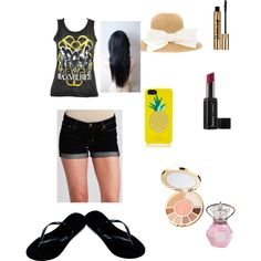 Summertime by prosperityelann on Polyvore featuring polyvore, fashion, style, Dex, Havaianas, Kate Spade, tarte and Butter London