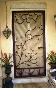Decorative Security Screen Doors Ensures A Snug Fit And