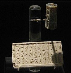 A Minoan cylindrical seal using Linear A