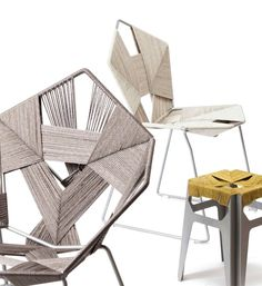 Designer chairs COD - Traditional weaving techniques and modern design -  The Israeli designer Rami Tareef designed a collection chair fascinating project called COD.