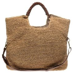 The Appeal Of Straw Handbags -Handbag Ideas Straw Handbags, Crochet Tote, Shopper Bag, Knitted Bags, Handmade Bags, Lana, Straw Bag, Purses And Bags, Pouch