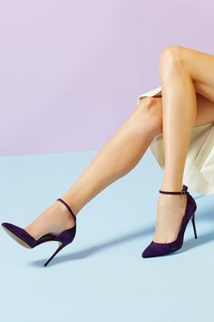 Timeless Jimmy Choo ankle silhouette pumps in sumptuous suede.