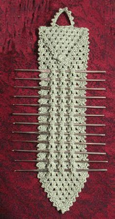 Elegant Metal Crochet Hook Holder: pattern for purchase