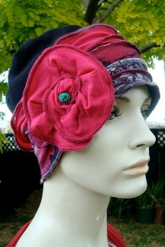 womens hat beanie cloche soft hat flapper by GypsyLoveHeadbands, $45.00