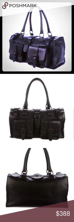 Burberry black leather bag. Gorgeous a9057f35ada3c