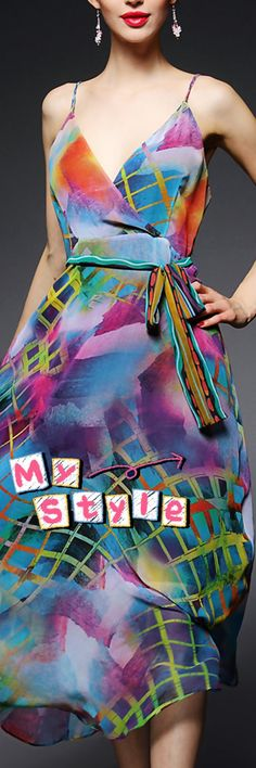 A Casual Sexy Slip Dress for Teens Only! Colorful and Delightful Could Be Your Best Choice in the Summer. Visit VIPme.com NOW!