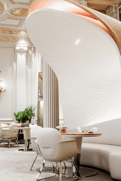 LUXURY RESTAURANT   A transformation of a 19th century military hospital chapel, The Jane in Belgium is a contemporary three storey restaurant in line with the personality of Michelin-star chef Sergio Herman. 880 hotel plaza athenee restaurant pierre monetta 18   www.bocadolobo.com   #luxury #highend #restaurant