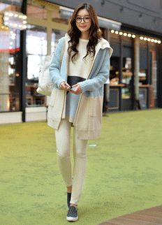 Feminine Cardigan from Styleonme.  Korean Fashion, Women Fashion, Feminine Look, Classy Look, Office Look, Lovely, Romantic, High Quality, Gorgeous Look, F/W 2014,Style On Me, Louis Angel, Winter Styling www.styleonme.com www.facebook.com/StyleonmeEn