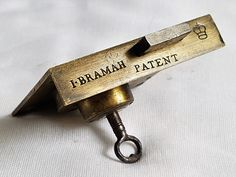 Antique J Bramah patent lock & key