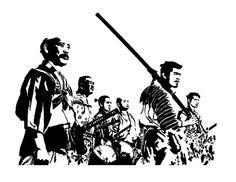 Seven Samurai  8 x 10 High Quality Giclee Print by Kelmosa on Etsy