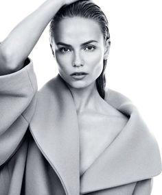 visual optimism; fashion editorials, shows, campaigns & more!: grey: natasha poly by daniel jackson for harper's bazaar september 2014