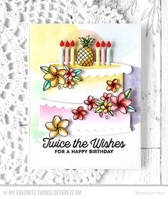 Handmade card from Yoonsun Hur featuring Twice the Wishes Card Kit #mftstamps