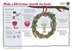 Make a christmas wreath for the birds