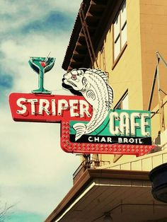 Neon: Striper Cafe Char Broil