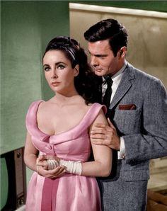 "Elizabeth Taylor and Louis Jourdan in ""The V.I.P.'S""  1963"