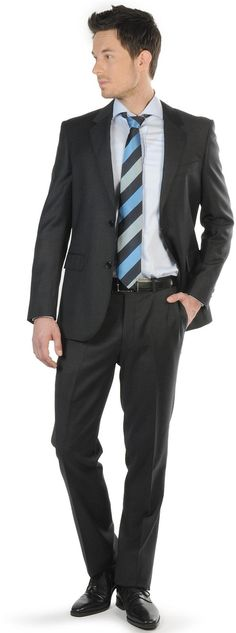 $156 Soho Traje - Hombre - antracita - M|L|XL|XXL - Corte slim fit
