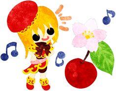 フリーイラスト素材可愛い女の子とさくらんぼ  Free Illustration A cute little girl and a cherry   http://ift.tt/2pctekE