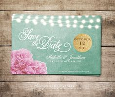 Save+the+Date+Printable+Mint+and+Gold+Save+by+soumyasinvitations