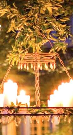 outdoor candle chandelier...