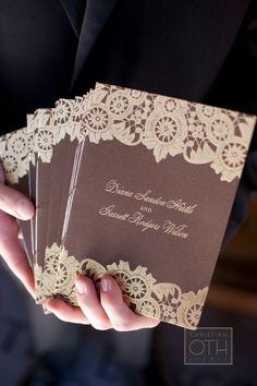 wedding programs... serigrafía@ulavaz serigrafía que hace de blonda
