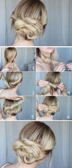 frisyr tutorial hår, uppsättning, twist, twisted hair, easy snabb lättt, hiilen sminkblog skönhetsblogg
