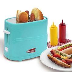 Elite Blue Vintage Hot Dog Bun Maker Cooking Grill Cook Warmer Electric Machine  #NostalgiaElectrics