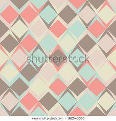 Vector color rhombus seamless pattern by AKSANA SHUM, via Shutterstock