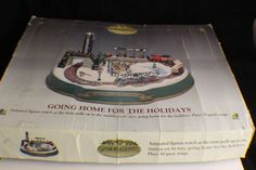 Mr Christmas - GOING HOME FOR THE HOLIDAYS Train Set Animated Works See Video