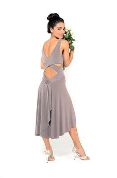criss cross back tango dress