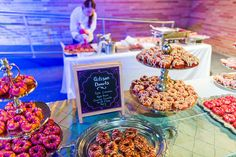 Artisan Donut Action Station for National Donut Day by LeCroissant Catering and Events #lecroissantcateringandevents #welovefood #weloveevents #weareutah #nationaldonutday #donuts #catering