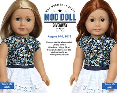 Mod Doll Giveaway on Pixie Faire! Vote for your chance to win an American Girl Doll and Liberty Jane Outfit!