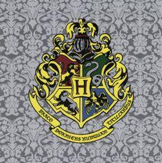 Hogwarts Crest Harry Potter Fabric Print