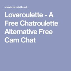 free chatroulette sites