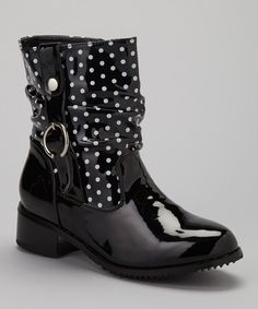 These polka dot pretties mean never having to wish the rain away. Shine bright as it sprinkles with this pair's ornamental buckles and slip-stopping soles.