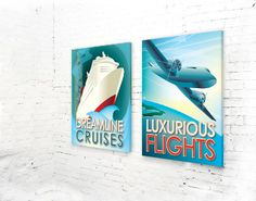 Eye-catching high resolution retro artwork on high-quality canvas. Make a statement in your room.