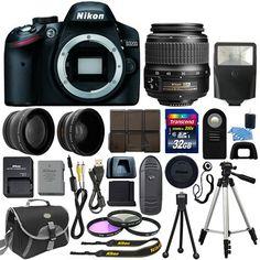 Nikon D3200 DSLR Camera Body 3 Lens Kit 18-55mm VR II Lens + 32GB Best Value in Cameras & Photo, Digital Cameras | eBay