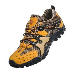 Tidecloth Mens 2015 Waterproof Outdoor Shoes Yellow 44 EU >>> You can find more details by visiting the image link.