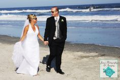 bride & Groom walk on LBI Beach - New Jersey Wedding | James Photography and Imaging | www.jamesphoto.com #wedding #njshoreweddingphotographer #LBIweddingphotographer #capemayweddingphotographer